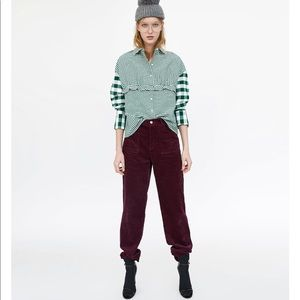 Check Contrasting Buttoned down Shirt, NWT